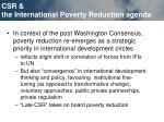csr the international poverty reduction agenda