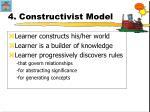 4 constructivist model