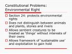 constitutional problems environmental right
