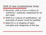shift of new constitutional order