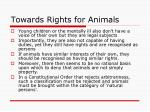 towards rights for animals