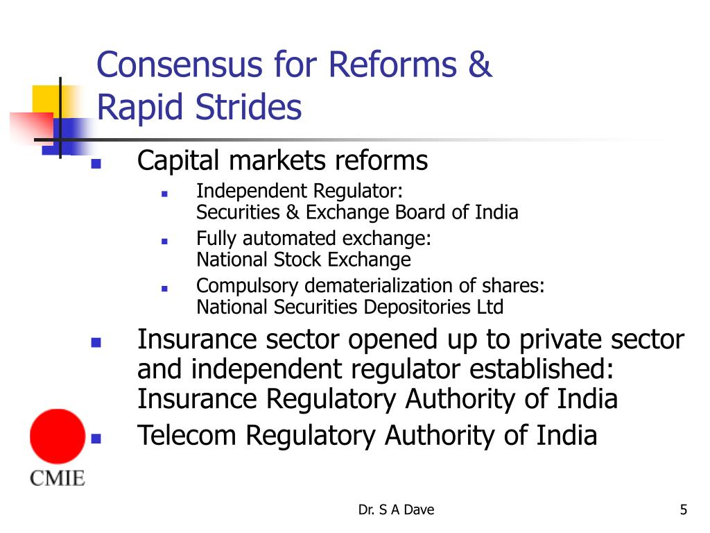 Consensus for Reforms &