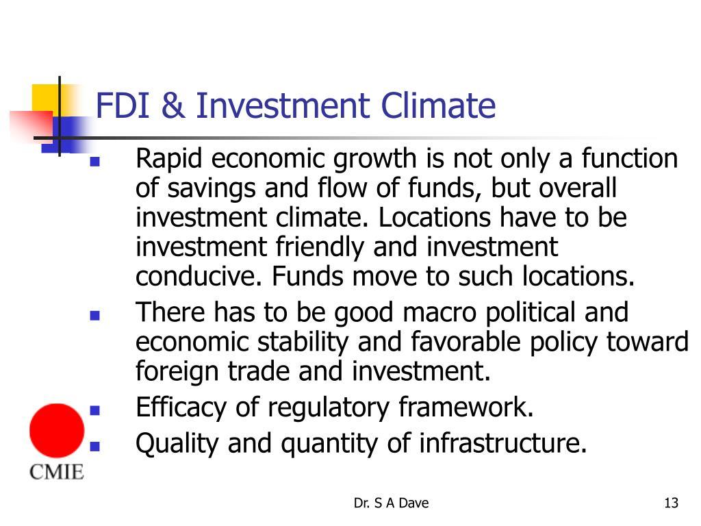 FDI & Investment Climate