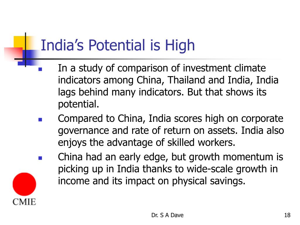 India's Potential is High