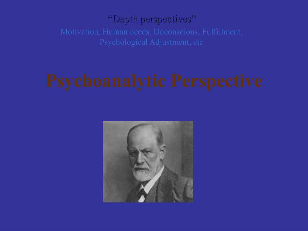 psychoanalytic perspective l.