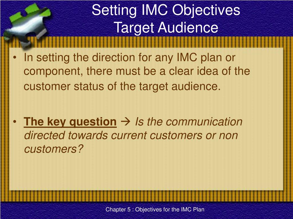 Setting IMC Objectives
