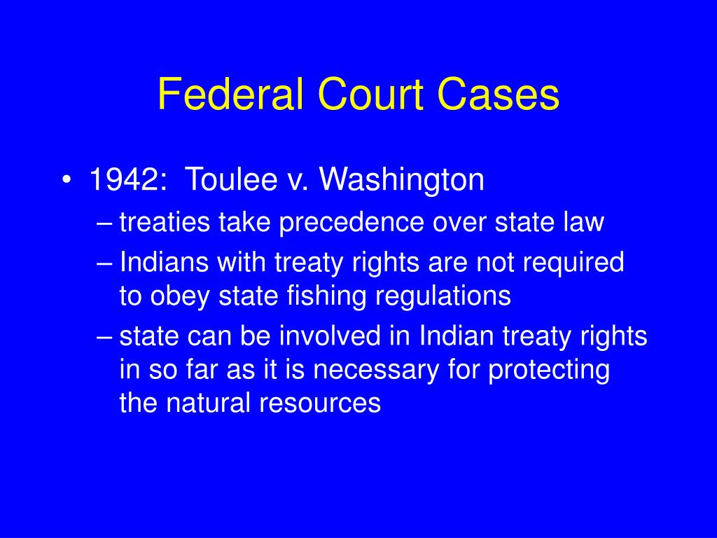Federal Court Cases