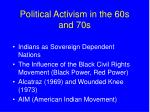 political activism in the 60s and 70s