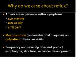 why do we care about reflux
