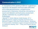 communication boc