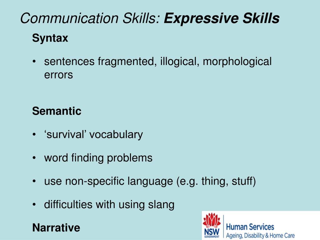 Communication Skills: