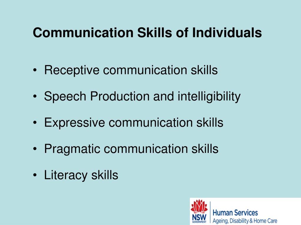 Communication Skills of Individuals