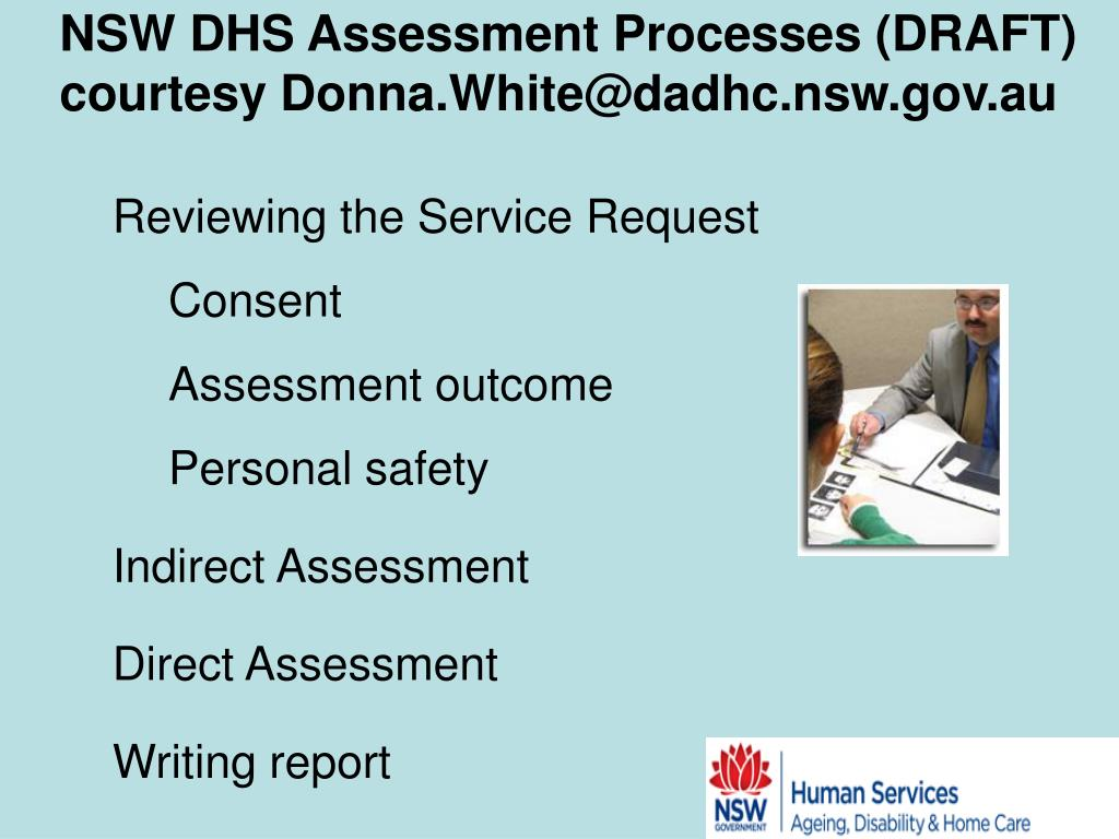 NSW DHS Assessment Processes (DRAFT)