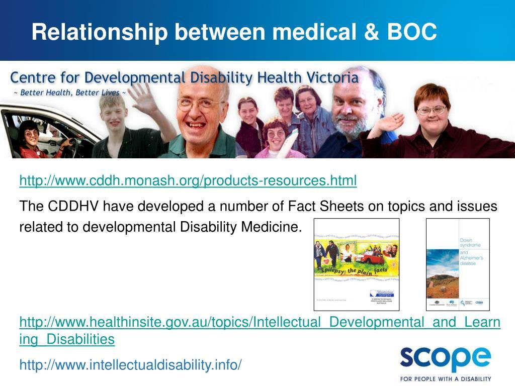 Relationship between medical & BOC