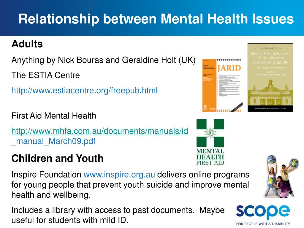 Relationship between Mental Health Issues