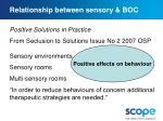 relationship between sensory boc