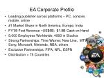 ea corporate profile
