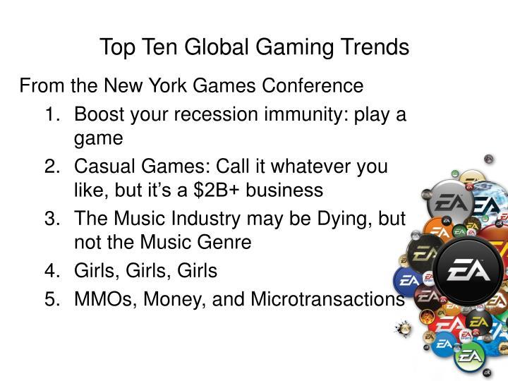 Top ten global gaming trends