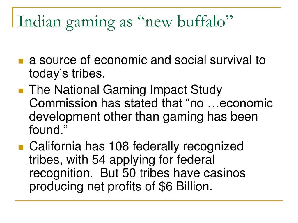"""Indian gaming as """"new buffalo"""""""
