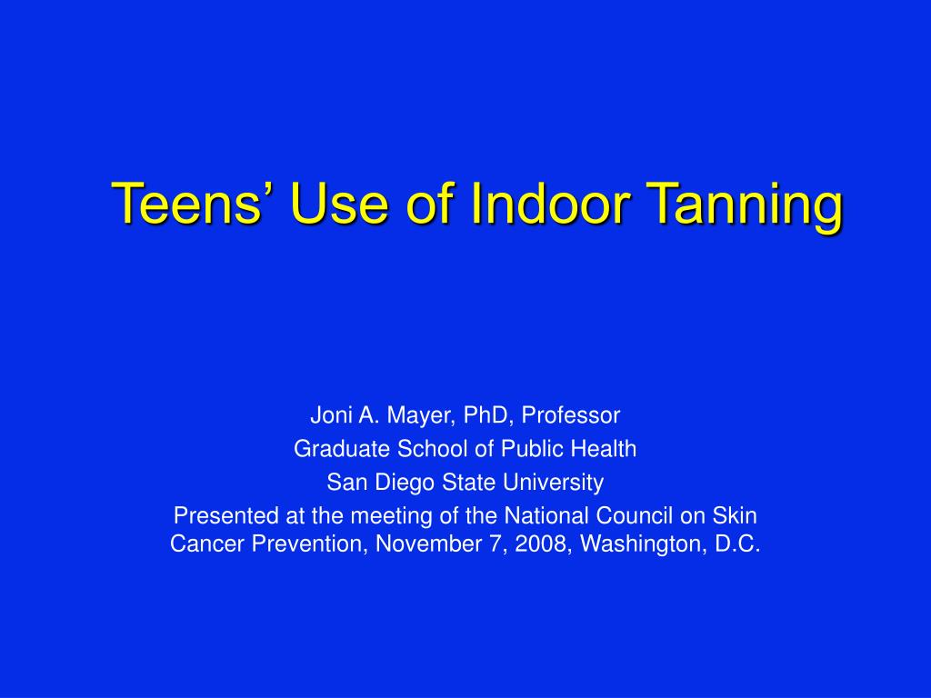 teens use of indoor tanning l.
