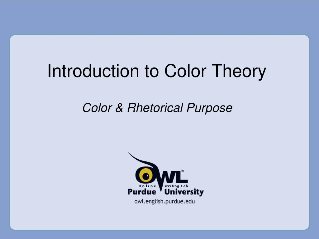 introduction to color theory l.