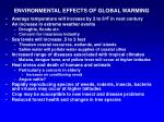 environmental effects of global warming