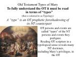 old testament types of mary