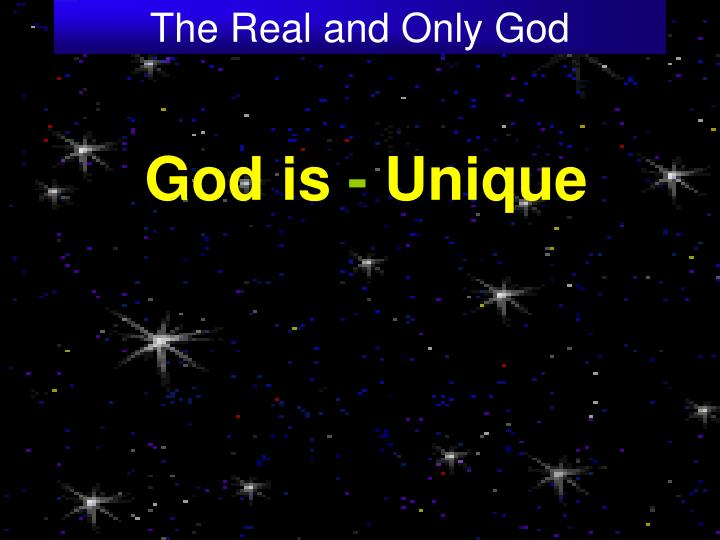 The real and only god3