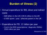 burden of illness 2