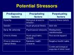 potential stressors22