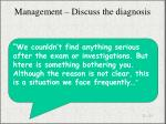management discuss the diagnosis