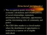 structural perspective