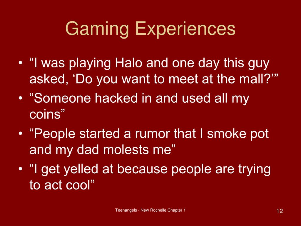 Gaming Experiences