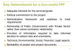key determinants for a successful ppp