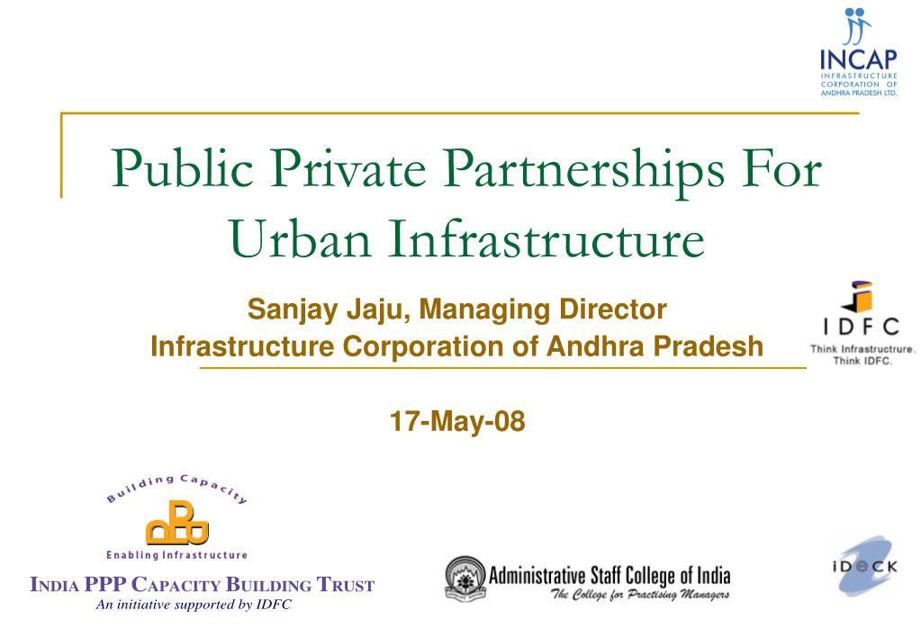 public private partnerships for urban infrastructure l.