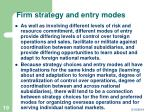 firm strategy and entry modes19