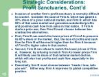 strategic considerations profit sanctuaries cont d