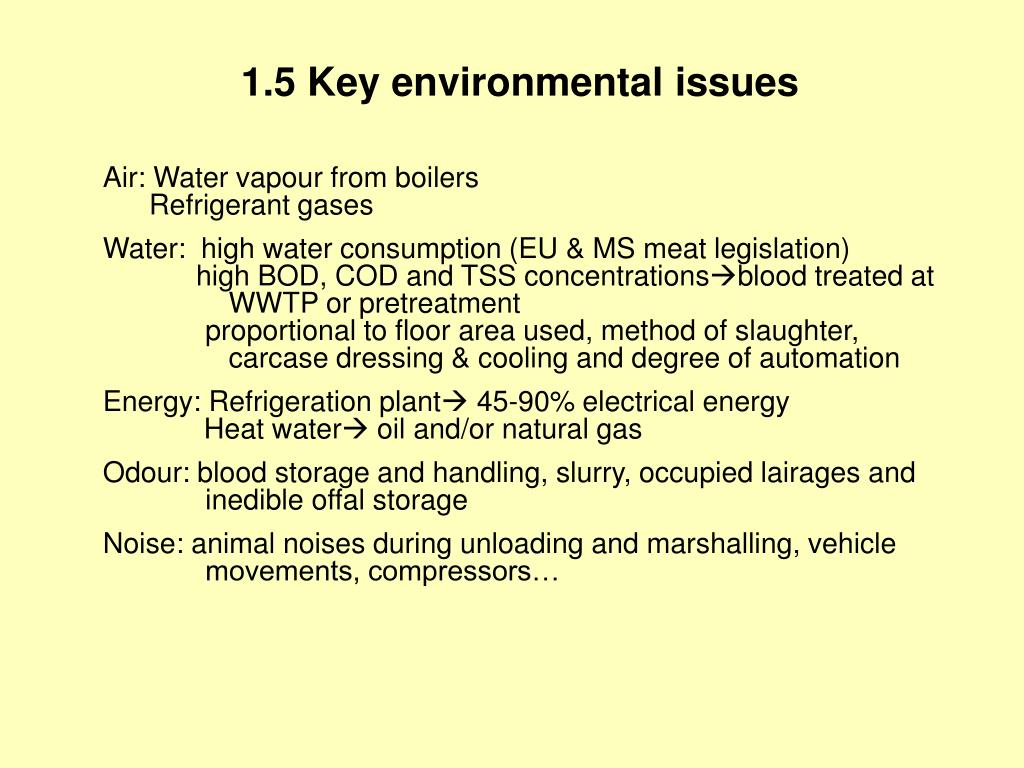 1.5 Key environmental issues