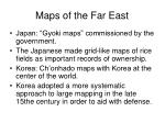 maps of the far east