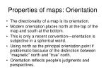 properties of maps orientation