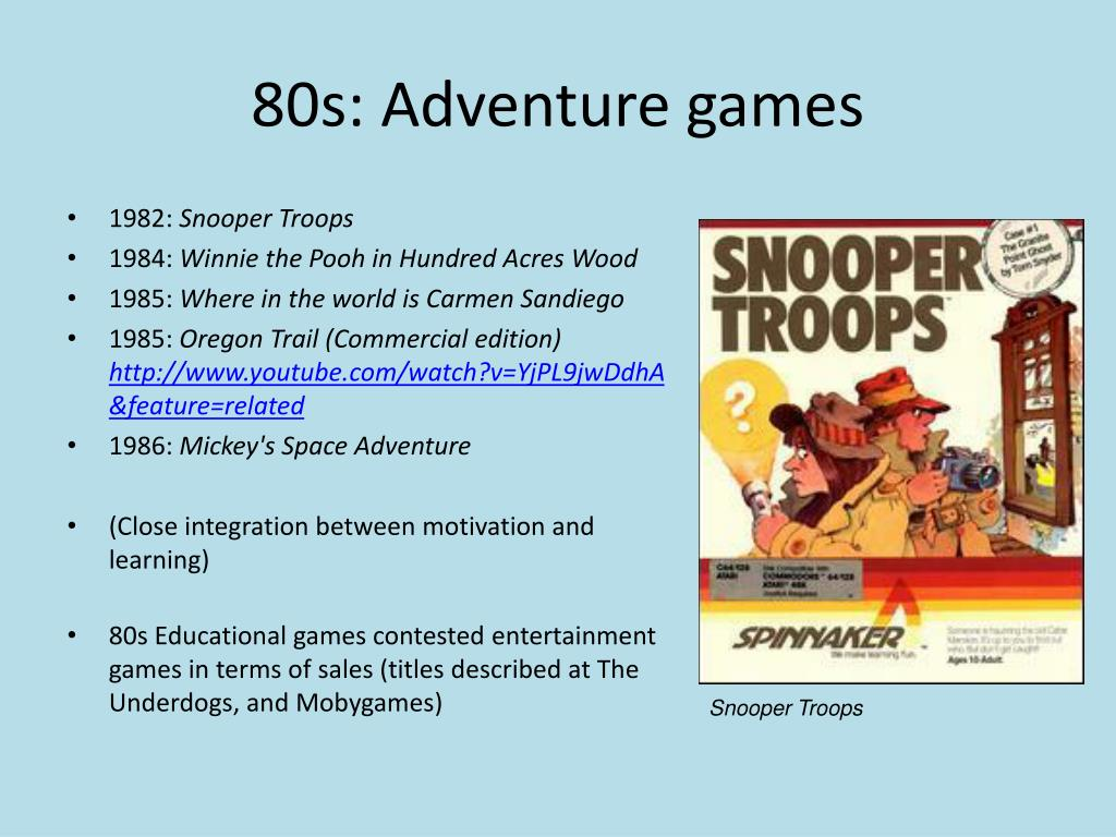 80s: Adventure games