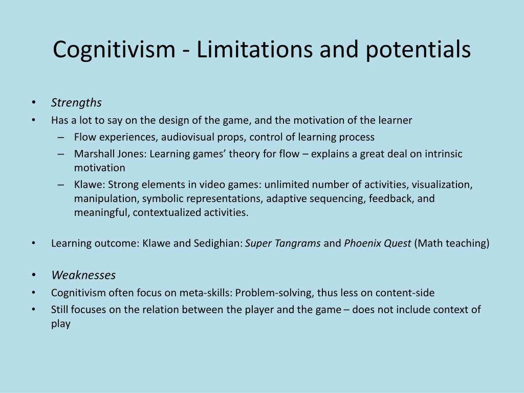 Cognitivism -