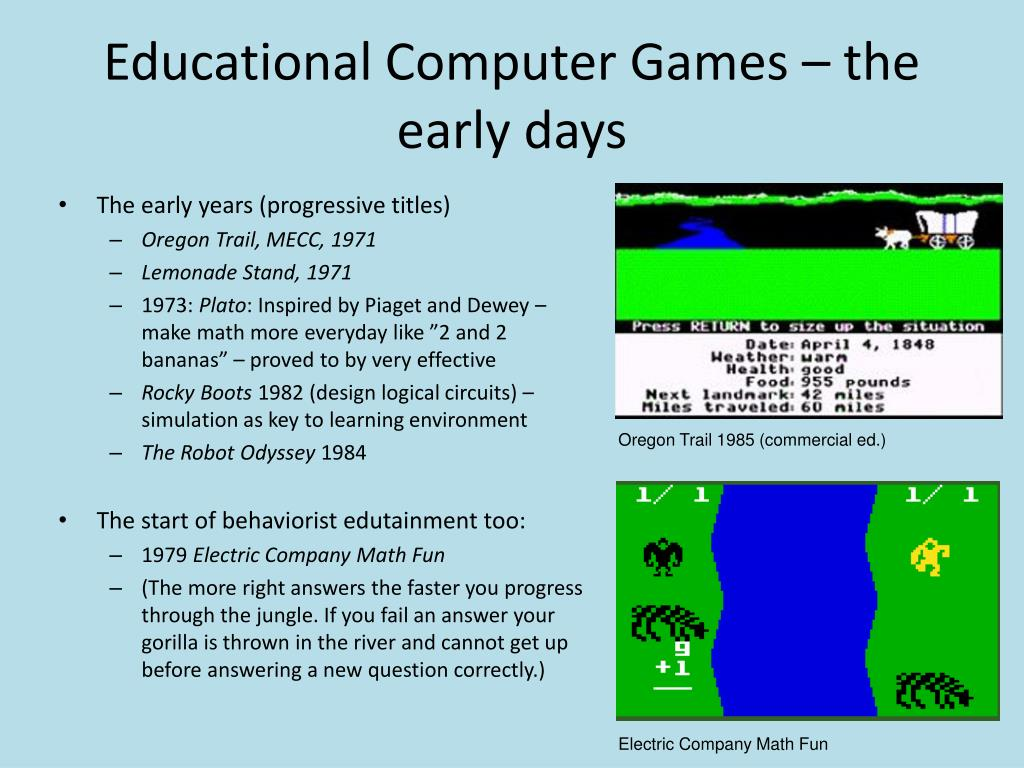 Educational Computer Games – the early days