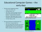 educational computer games the early days