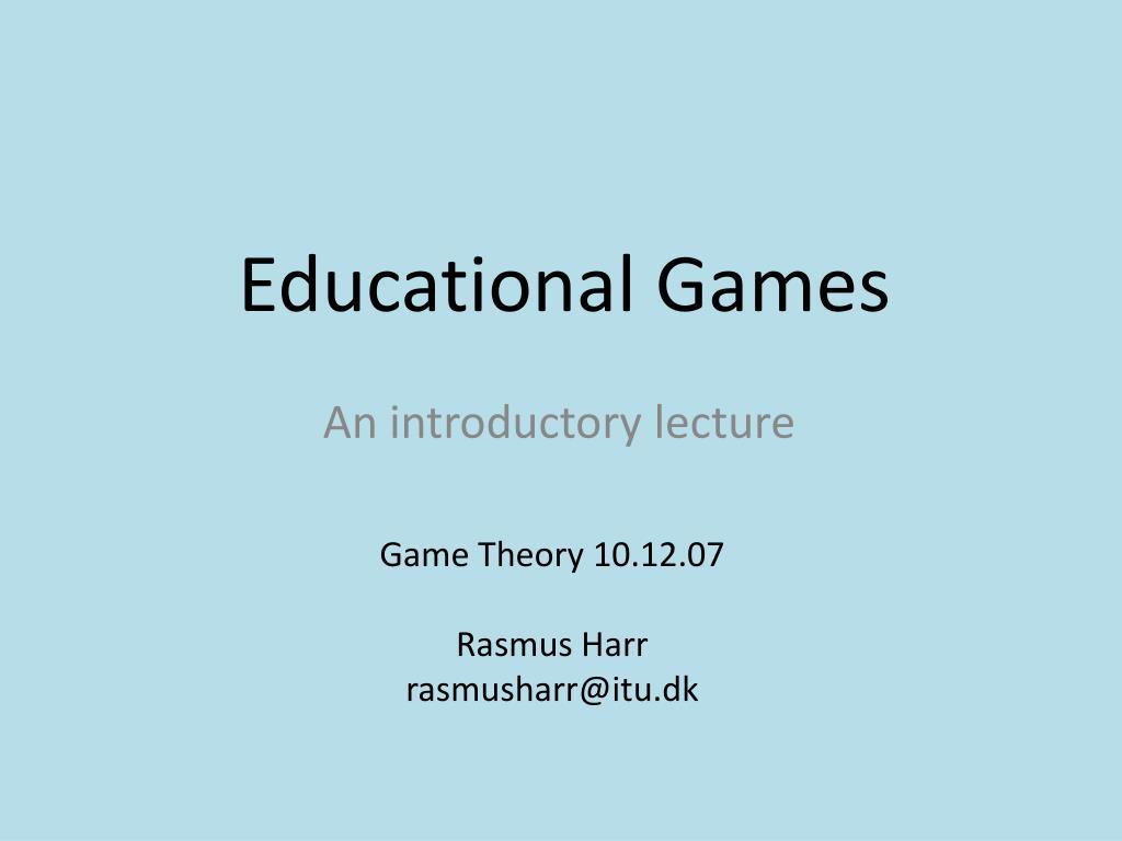 educational games l.