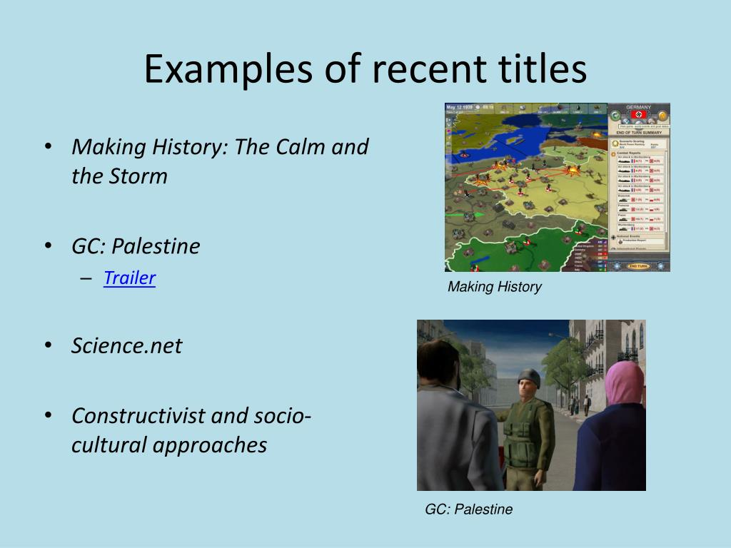 Examples of recent titles
