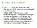 evolution of the syndrome
