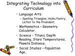 integrating technology into curriculum