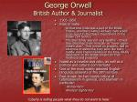 george orwell british author journalist