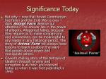 significance today